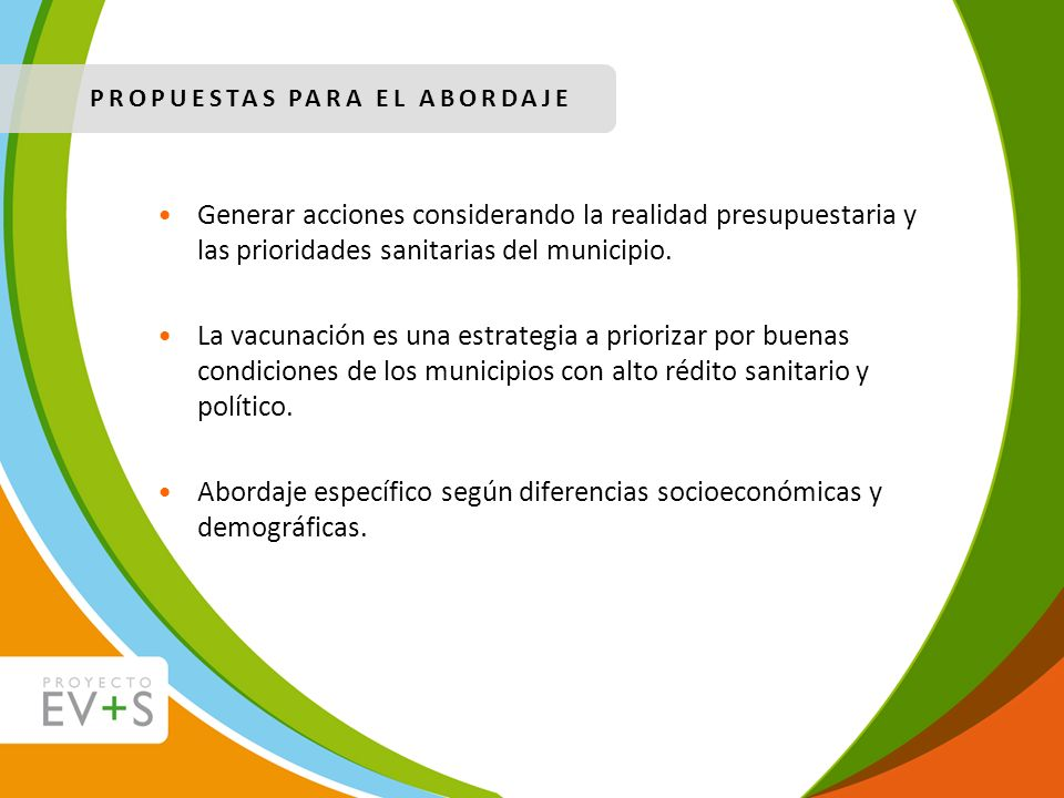 Abordaje específico según diferencias socioeconómicas y demográficas.