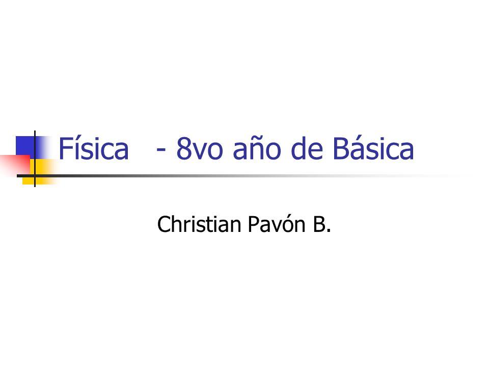 Física - 8vo año de Básica