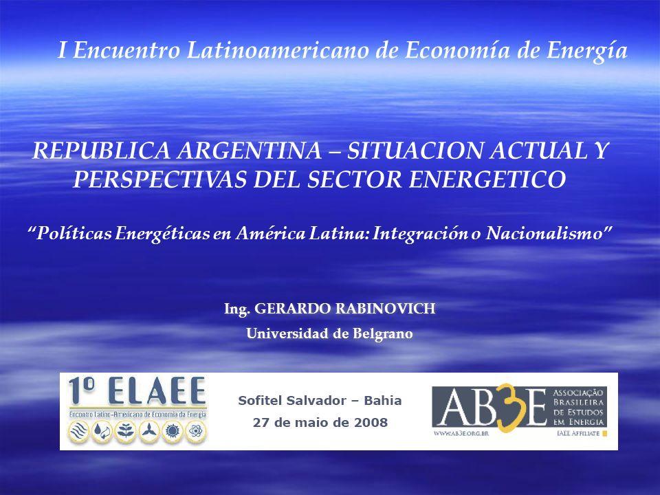 Ing. GERARDO RABINOVICH Universidad de Belgrano