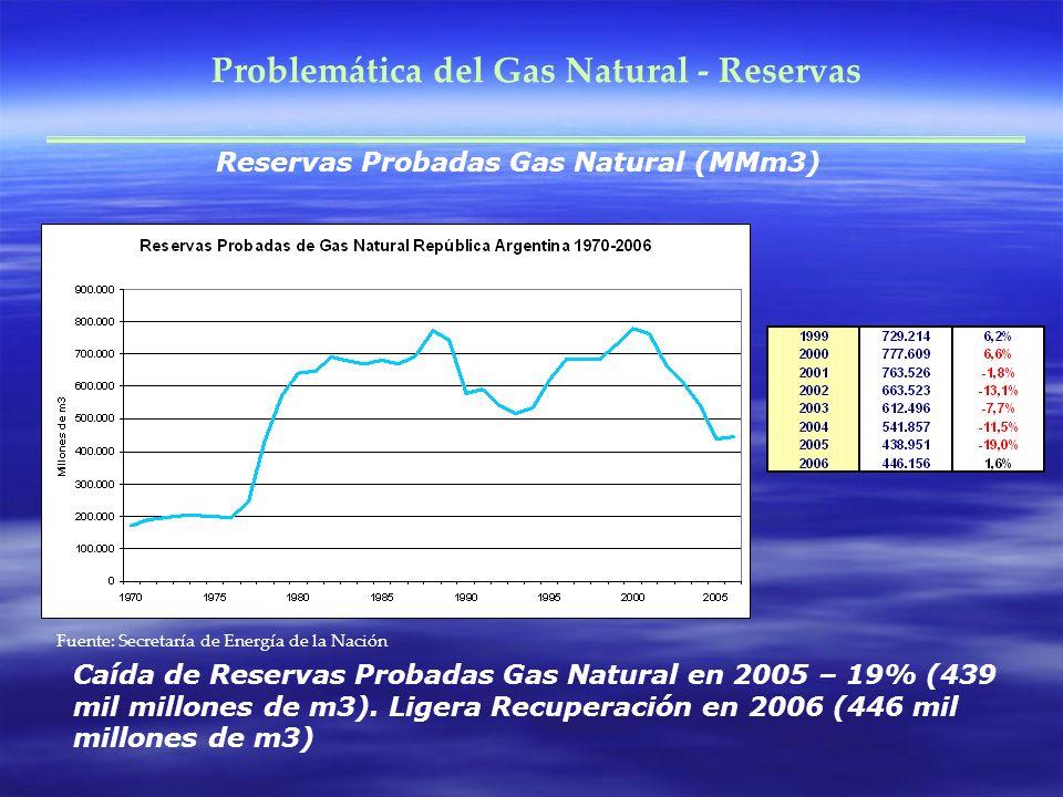 Problemática del Gas Natural - Reservas