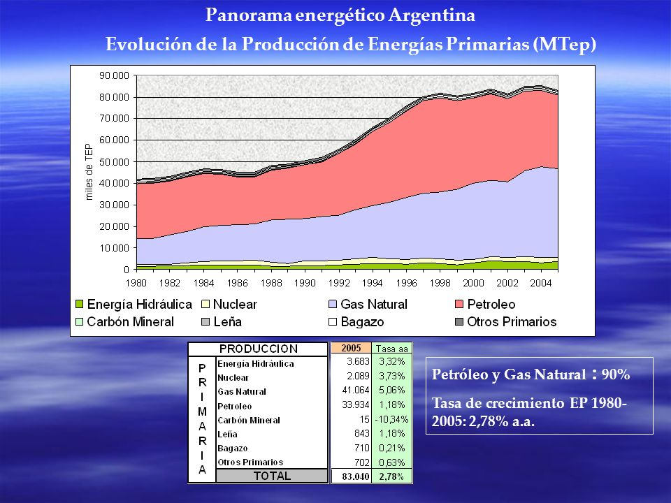 Panorama energético Argentina