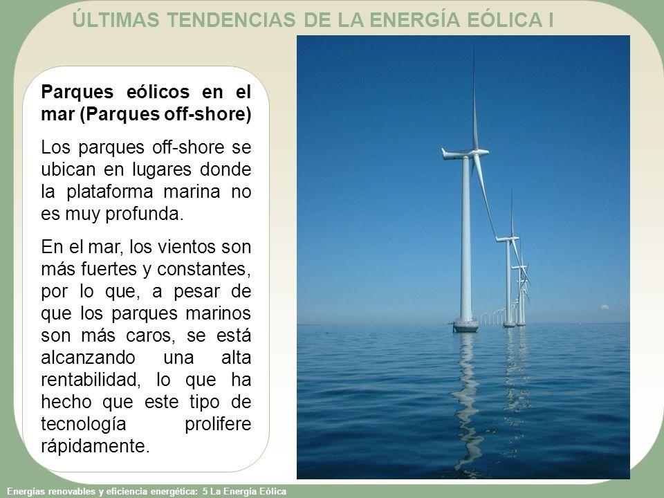 ÚLTIMAS TENDENCIAS DE LA ENERGÍA EÓLICA I