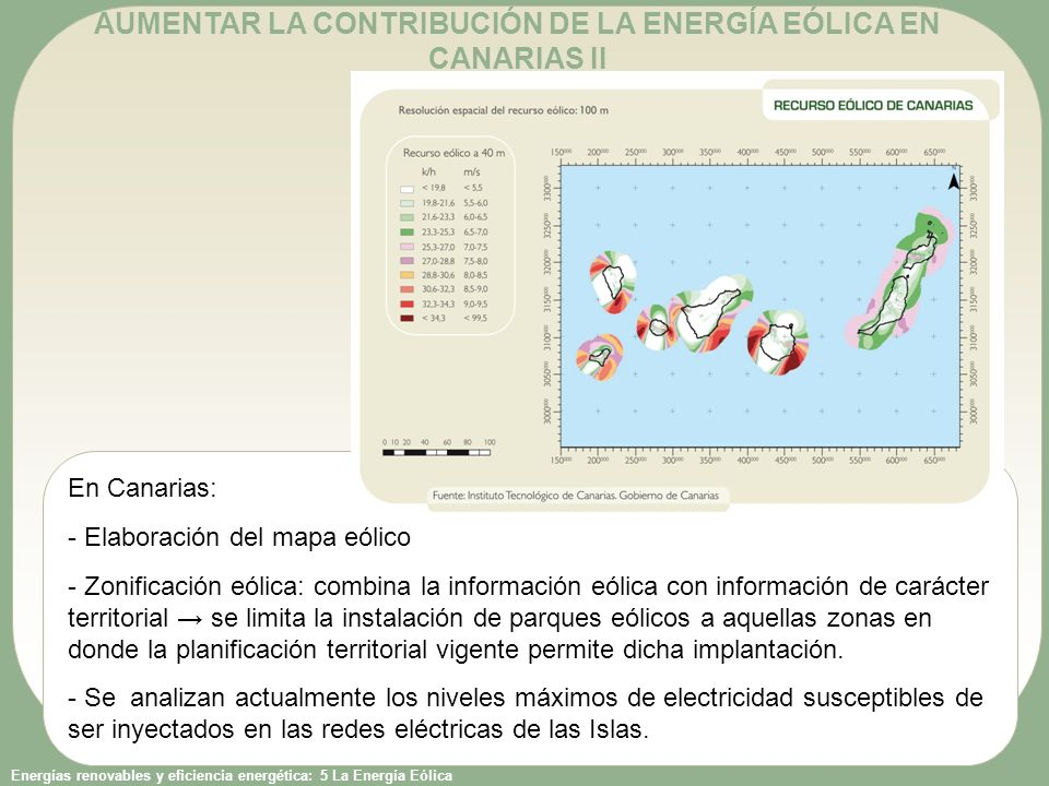 AUMENTAR LA CONTRIBUCIÓN DE LA ENERGÍA EÓLICA EN CANARIAS II