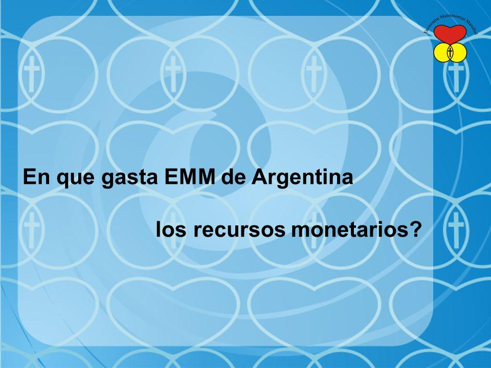 En que gasta EMM de Argentina