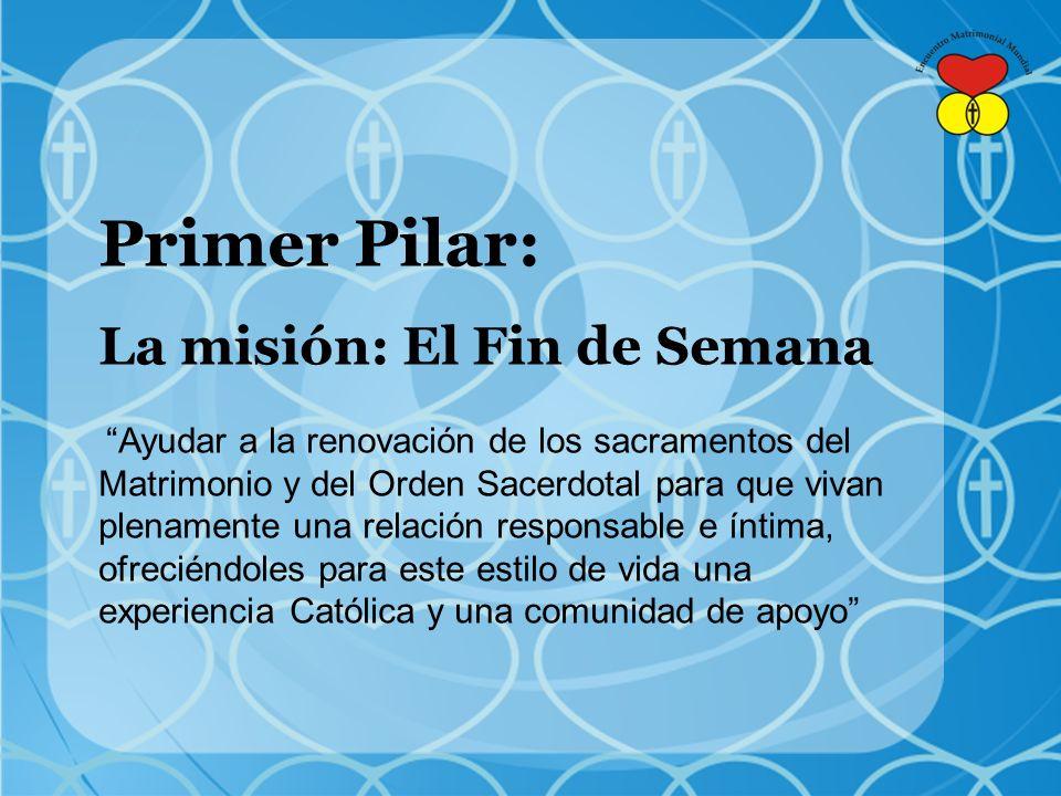 Primer Pilar: La misión: El Fin de Semana