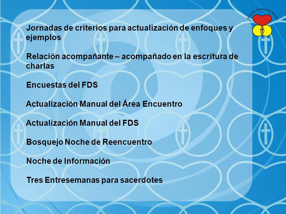 Jornadas de criterios para actualización de enfoques y ejemplos