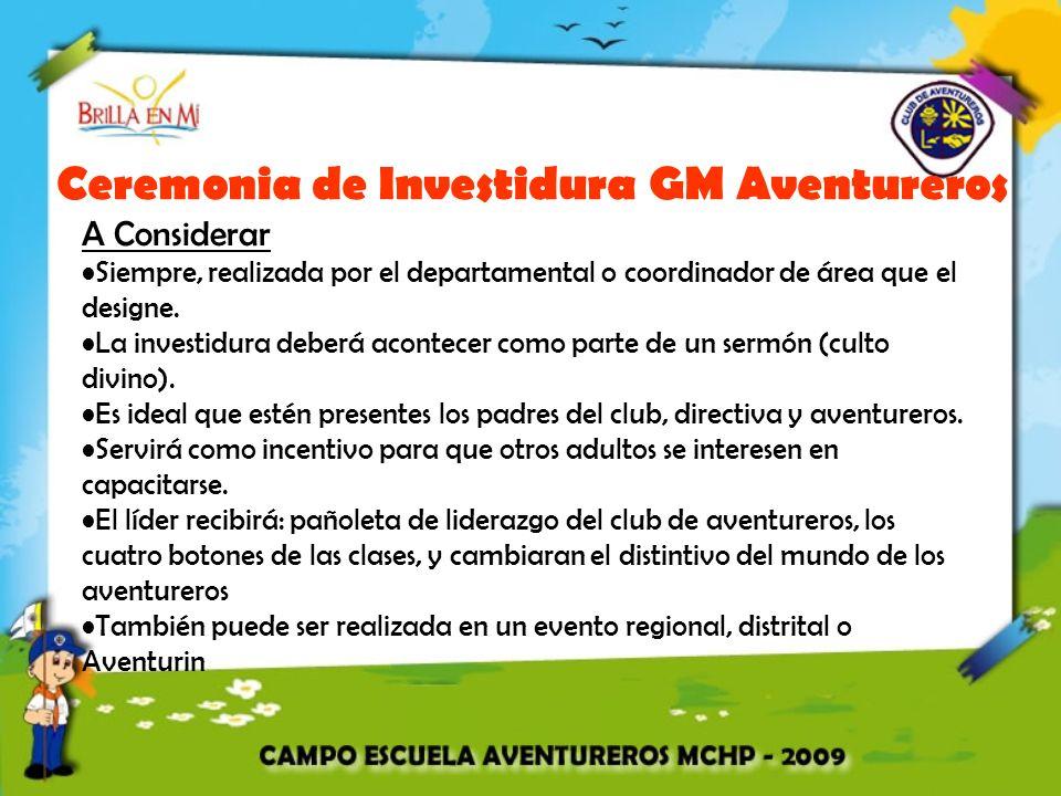 Ceremonia de Investidura GM Aventureros