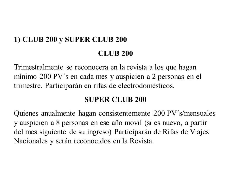 1) CLUB 200 y SUPER CLUB 200 CLUB 200.