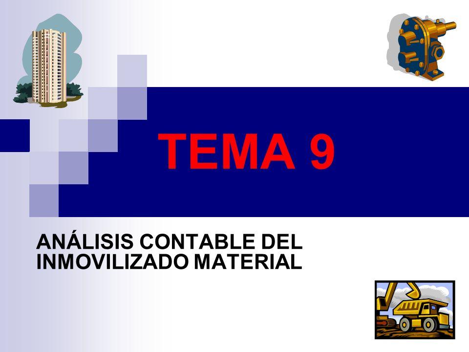ANÁLISIS CONTABLE DEL INMOVILIZADO MATERIAL