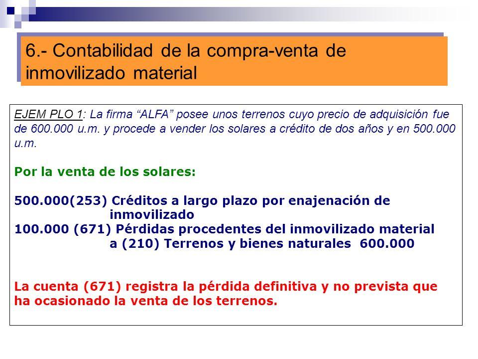 6.- Contabilidad de la compra-venta de inmovilizado material