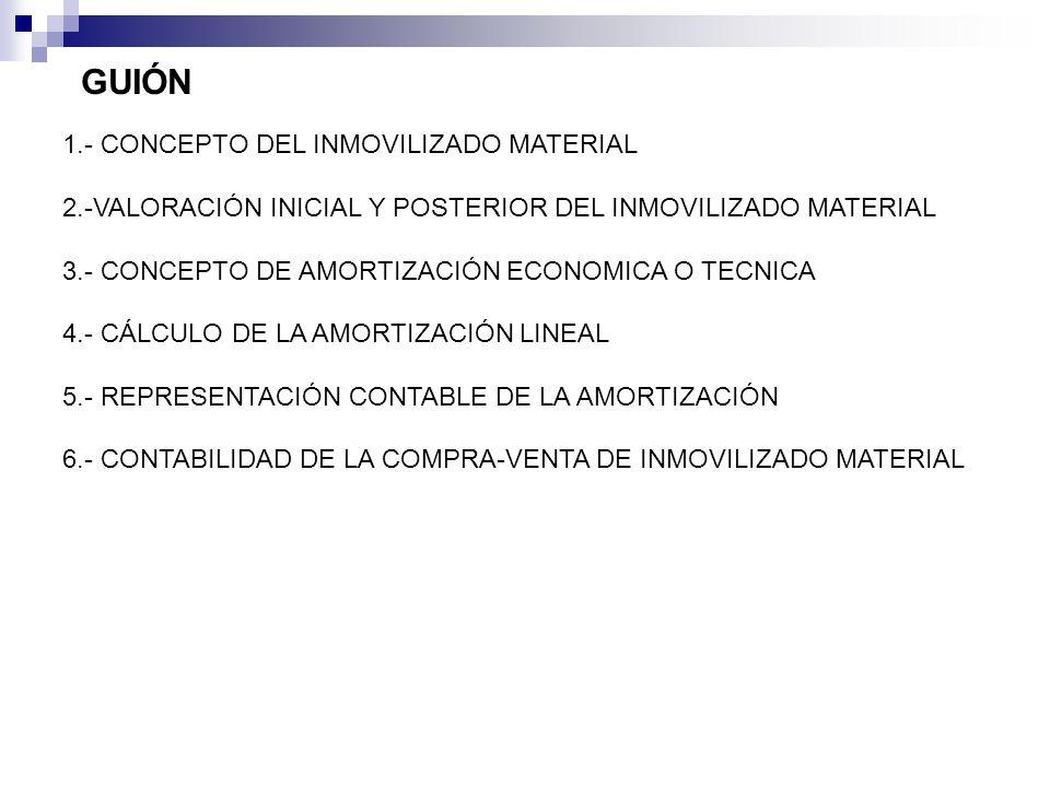 GUIÓN 1.- CONCEPTO DEL INMOVILIZADO MATERIAL