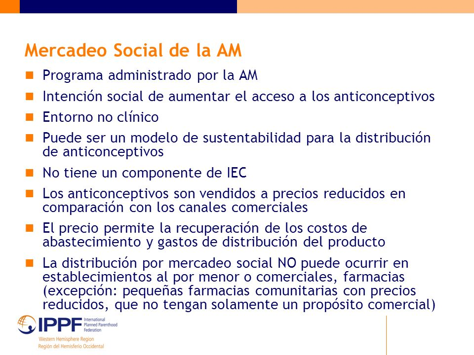Mercadeo Social de la AM