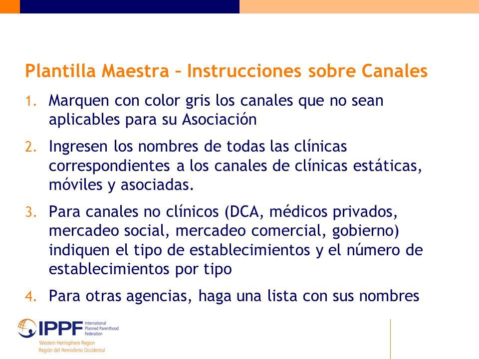 Plantilla Maestra – Instrucciones sobre Canales