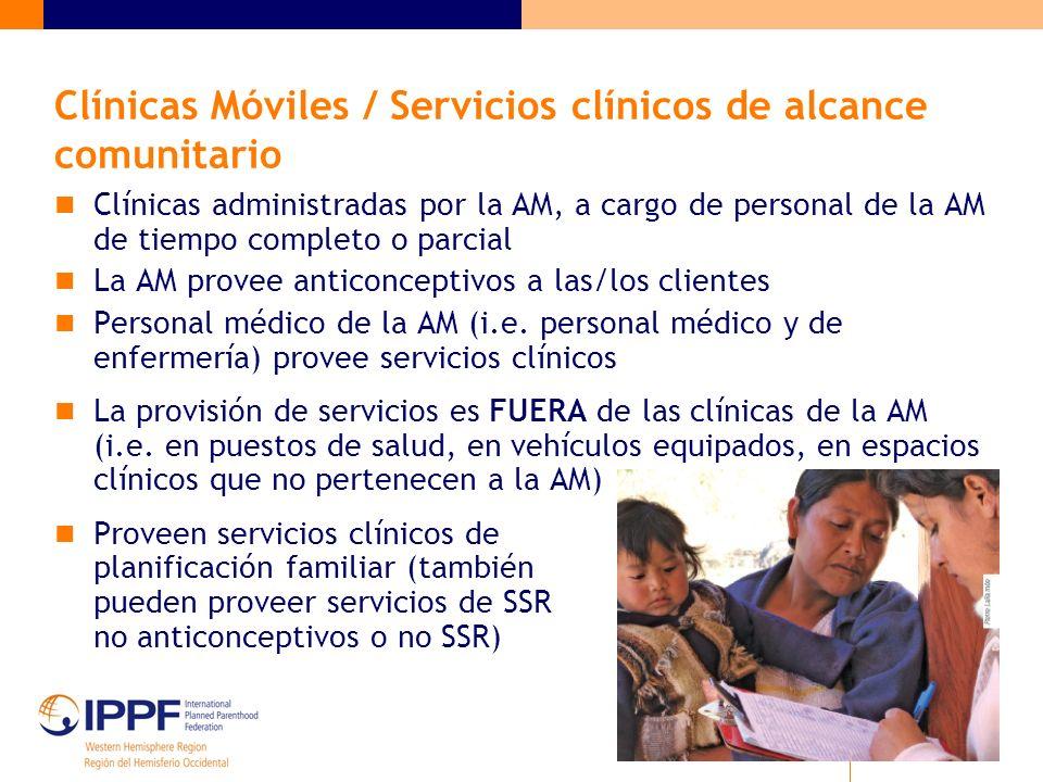 Clínicas Móviles / Servicios clínicos de alcance comunitario