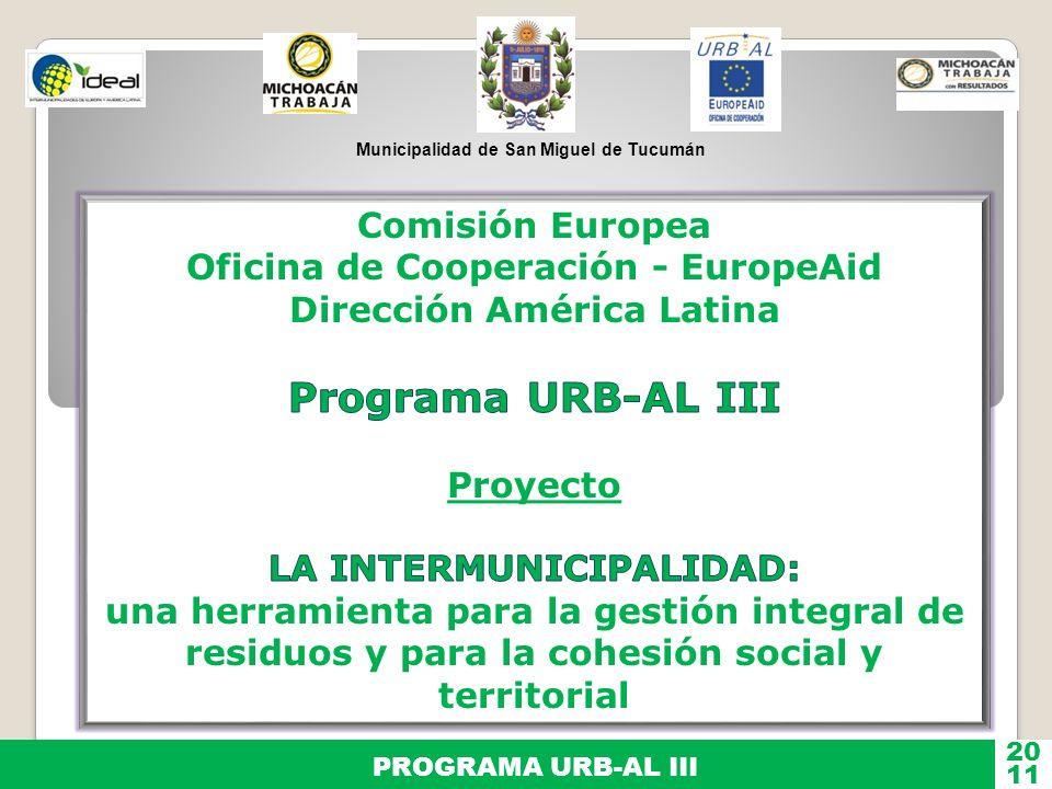 Programa URB-AL III Comisión Europea