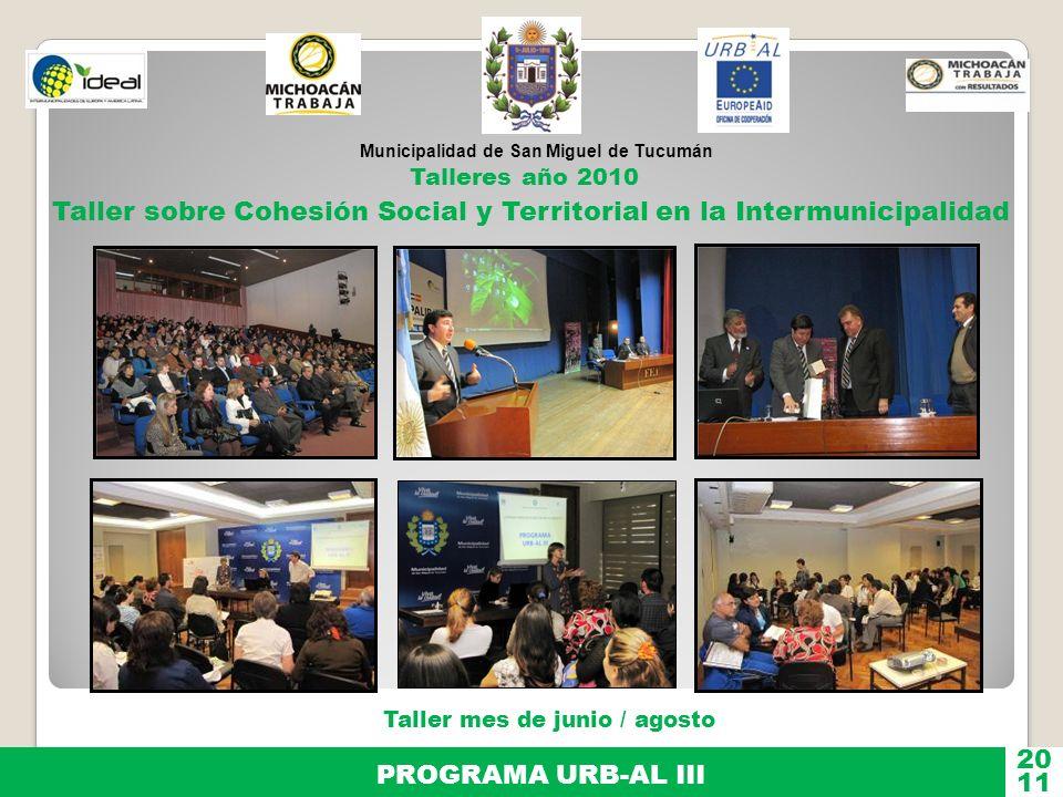 Taller sobre Cohesión Social y Territorial en la Intermunicipalidad