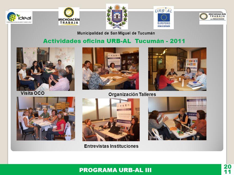 Actividades oficina URB-AL Tucumán - 2011