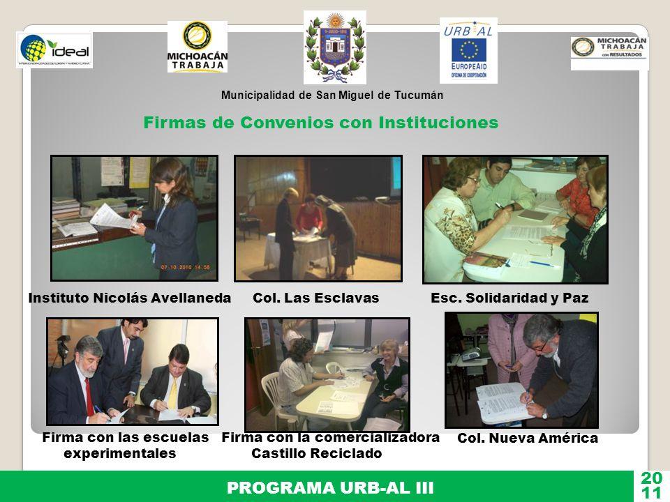 Firmas de Convenios con Instituciones