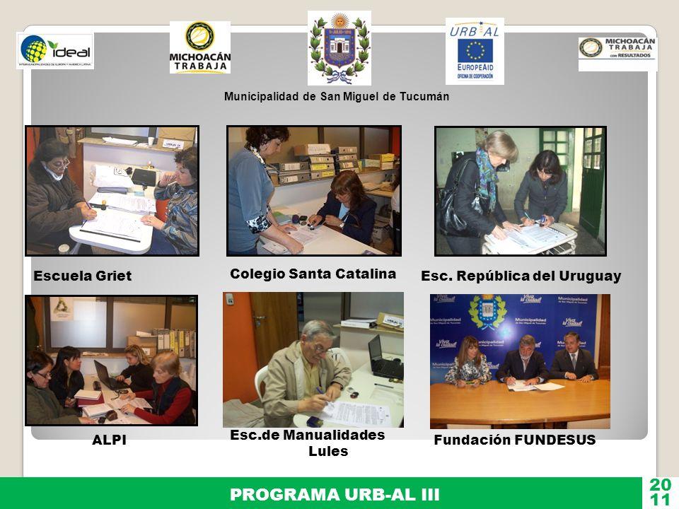 20 PROGRAMA URB-AL III 11 Escuela Griet Colegio Santa Catalina