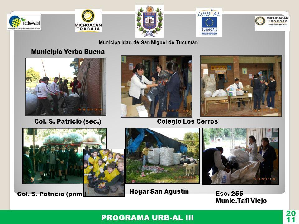 20 PROGRAMA URB-AL III 11 Municipio Yerba Buena