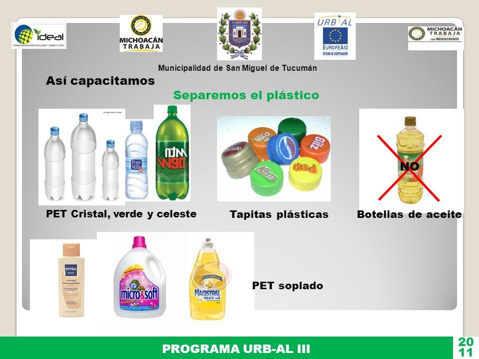 Así capacitamos Separemos el plástico NO 20 PROGRAMA URB-AL III 11