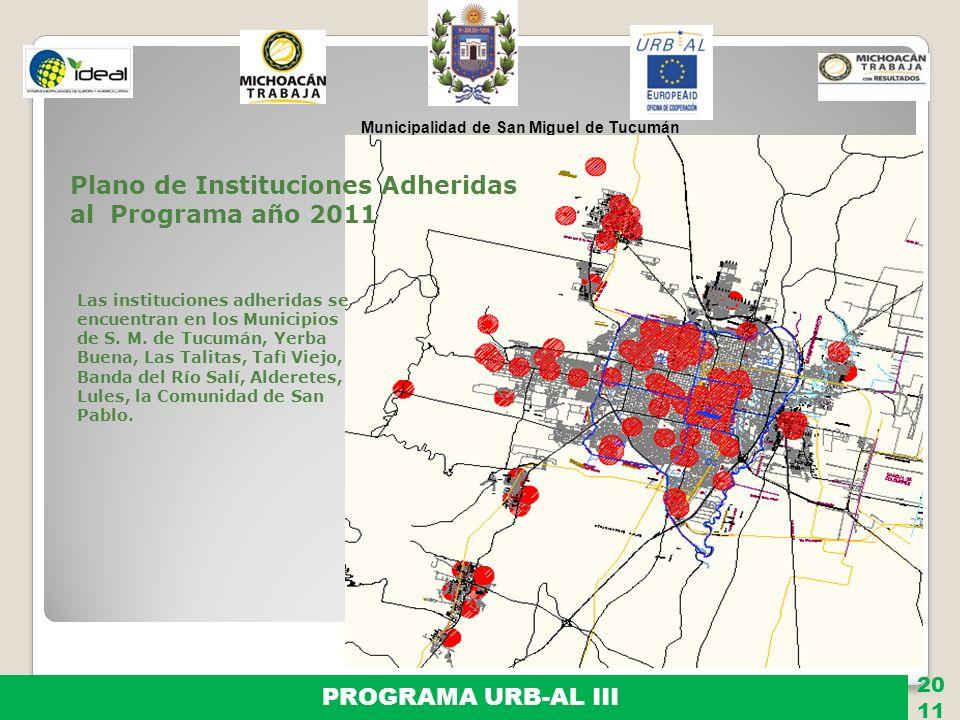 Plano de Instituciones Adheridas al Programa año 2011