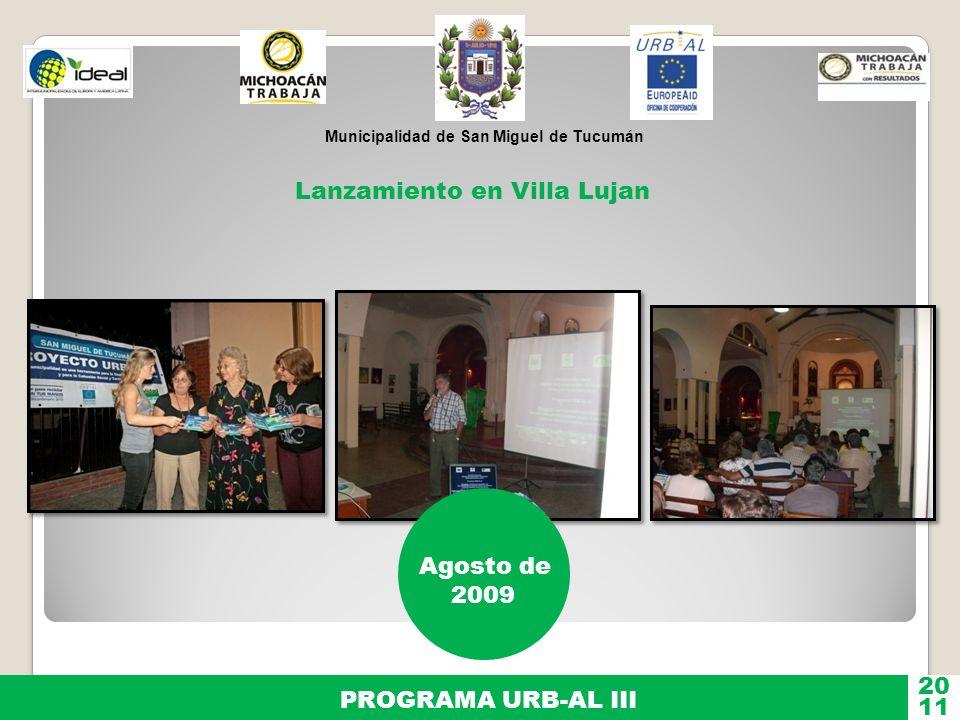 Lanzamiento en Villa Lujan