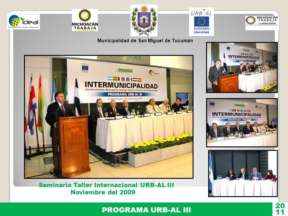 20 PROGRAMA URB-AL III 11 Seminario Taller Internacional URB-AL III