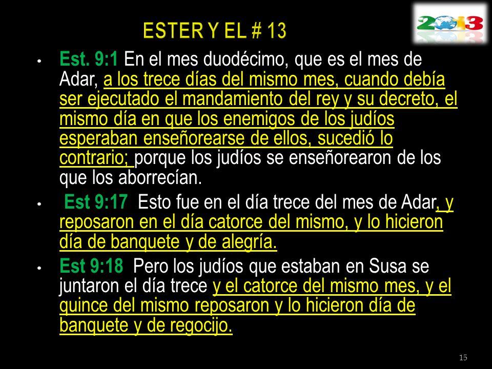 ESTER Y EL # 13