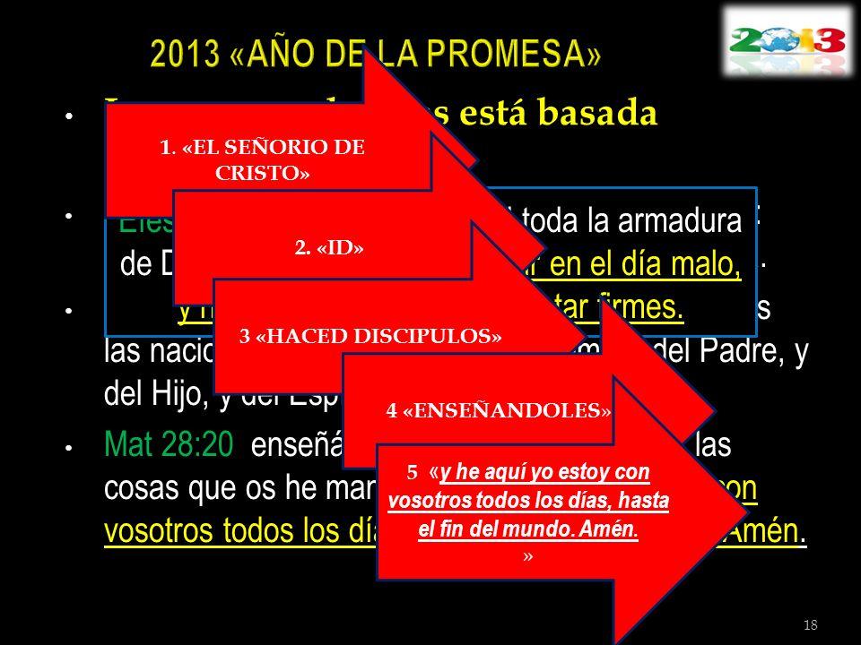 La promesa de Dios está basada en Mateo 28:18-20