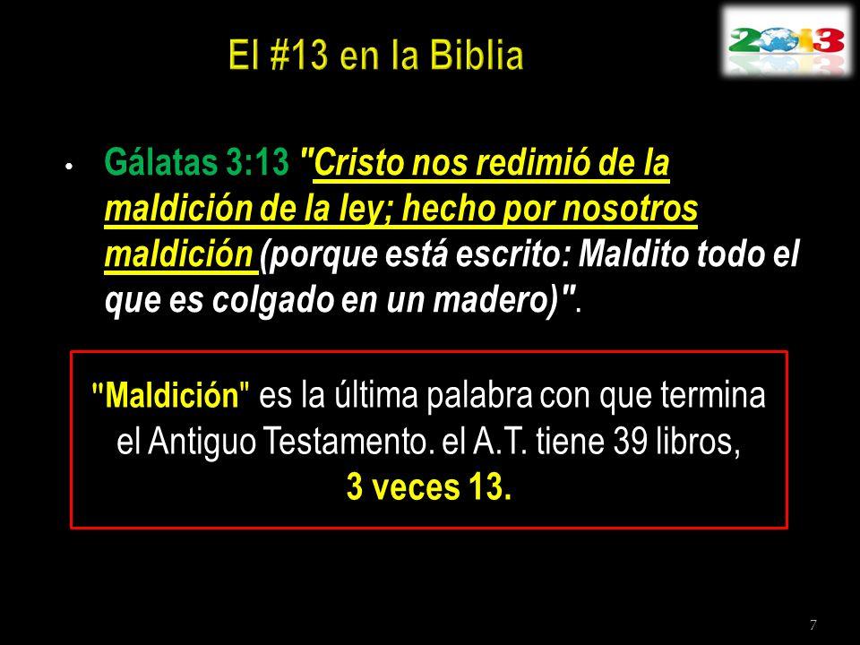 El #13 en la Biblia