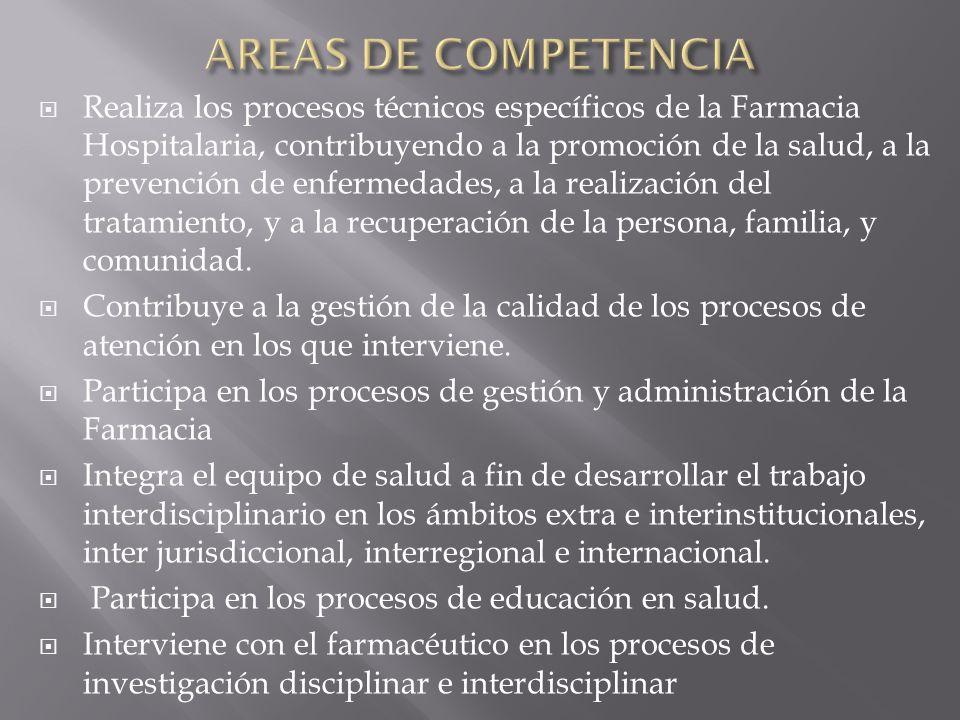 AREAS DE COMPETENCIA