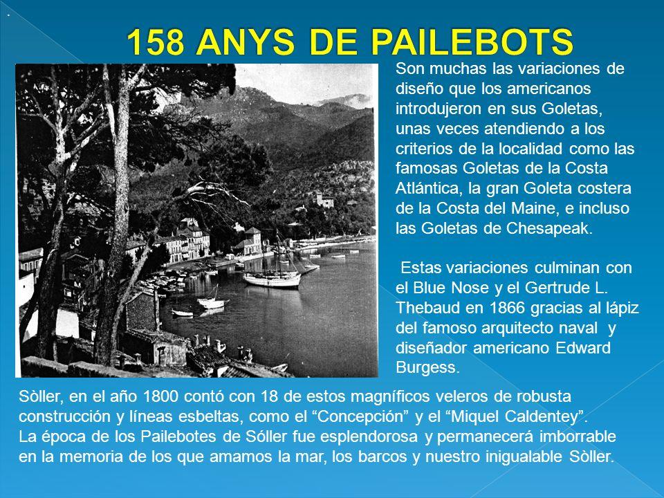 . 158 ANYS DE PAILEBOTS.