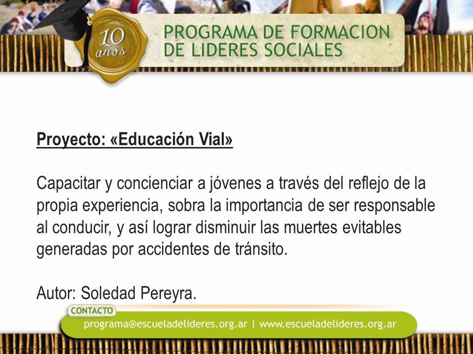 Proyecto: «Educación Vial»