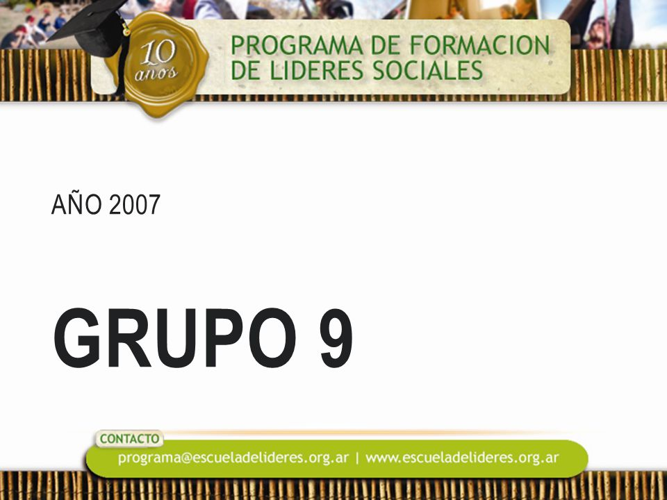 Año 2007 Grupo 9