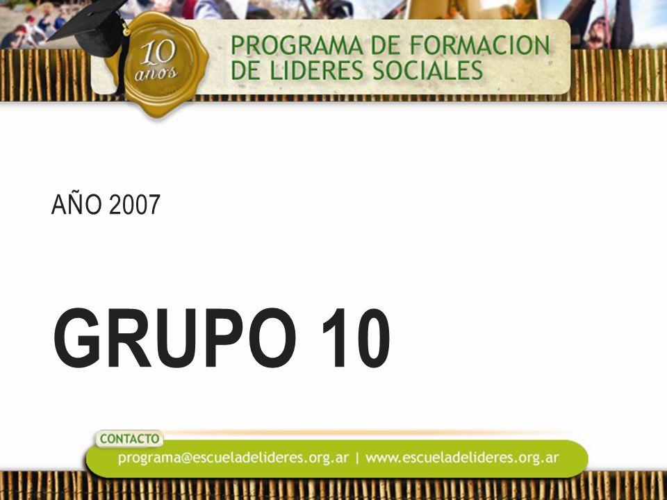 Año 2007 Grupo 10