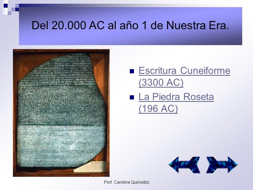 Del 20.000 AC al año 1 de Nuestra Era.