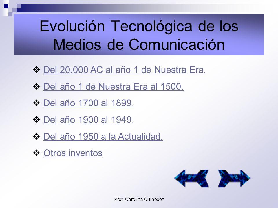 Evolución Tecnológica de los Medios de Comunicación