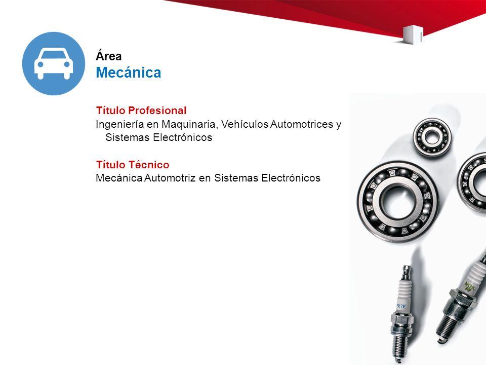 Mecánica Área Título Profesional