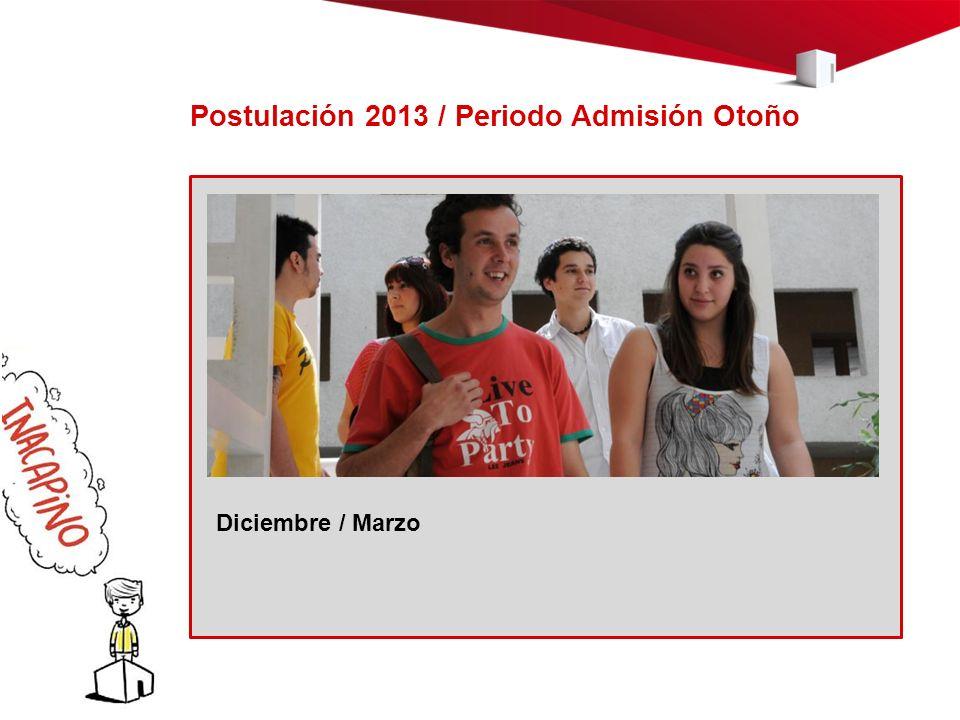Postulación 2013 / Periodo Admisión Otoño