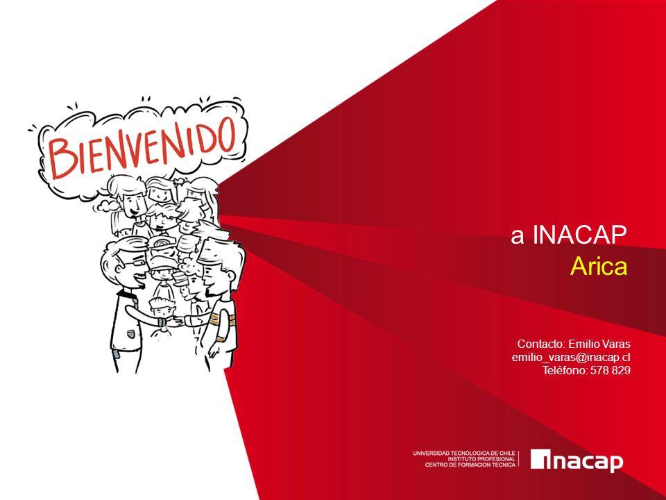 a INACAP Arica Contacto: Emilio Varas emilio_varas@inacap.cl