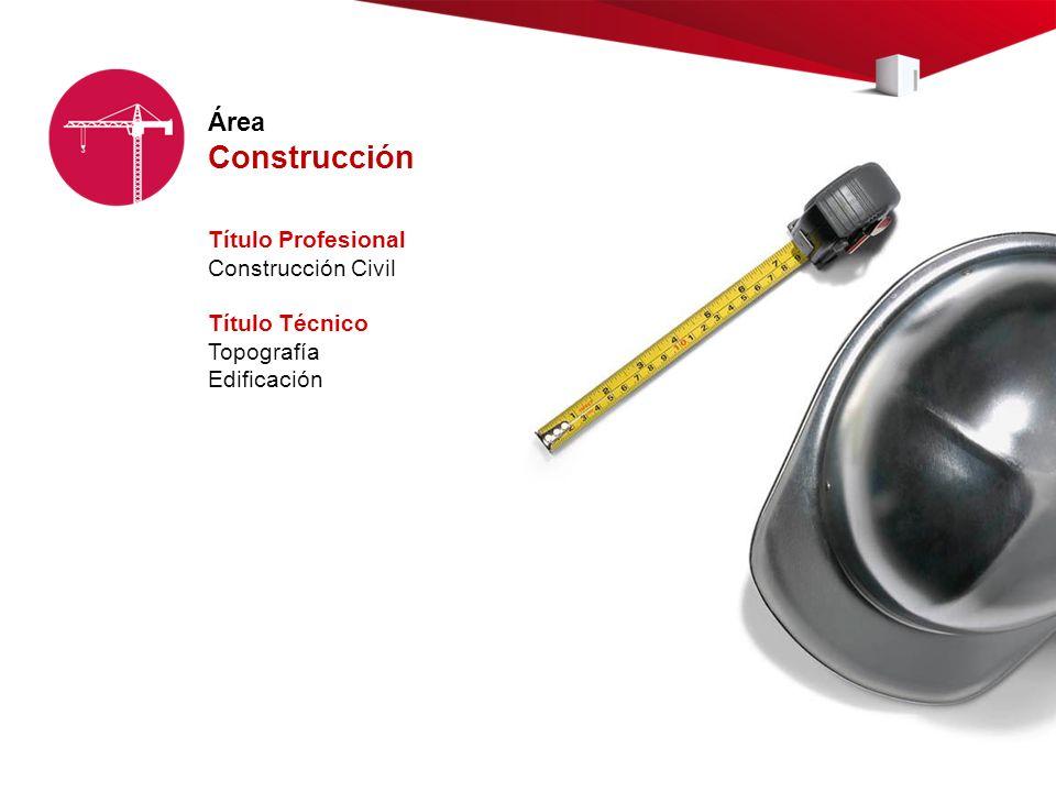 Construcción Área Título Profesional Construcción Civil Título Técnico