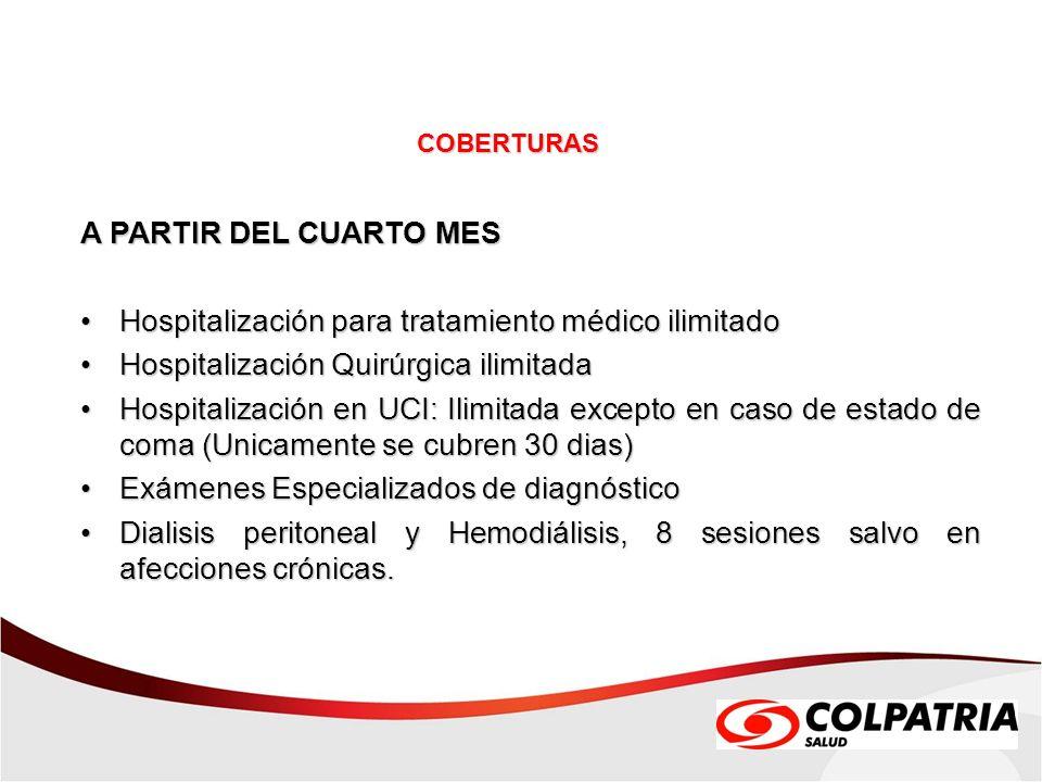 Hospitalización para tratamiento médico ilimitado