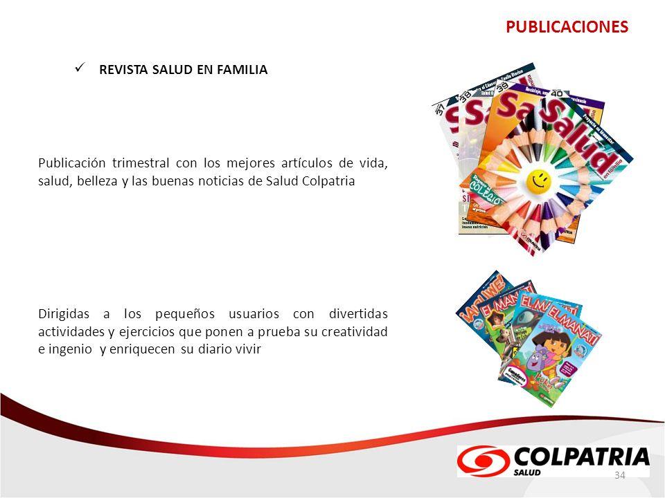 PUBLICACIONES REVISTA SALUD EN FAMILIA