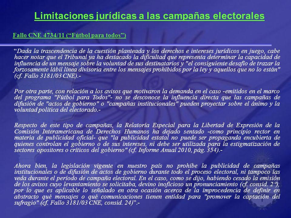 Limitaciones jurídicas a las campañas electorales