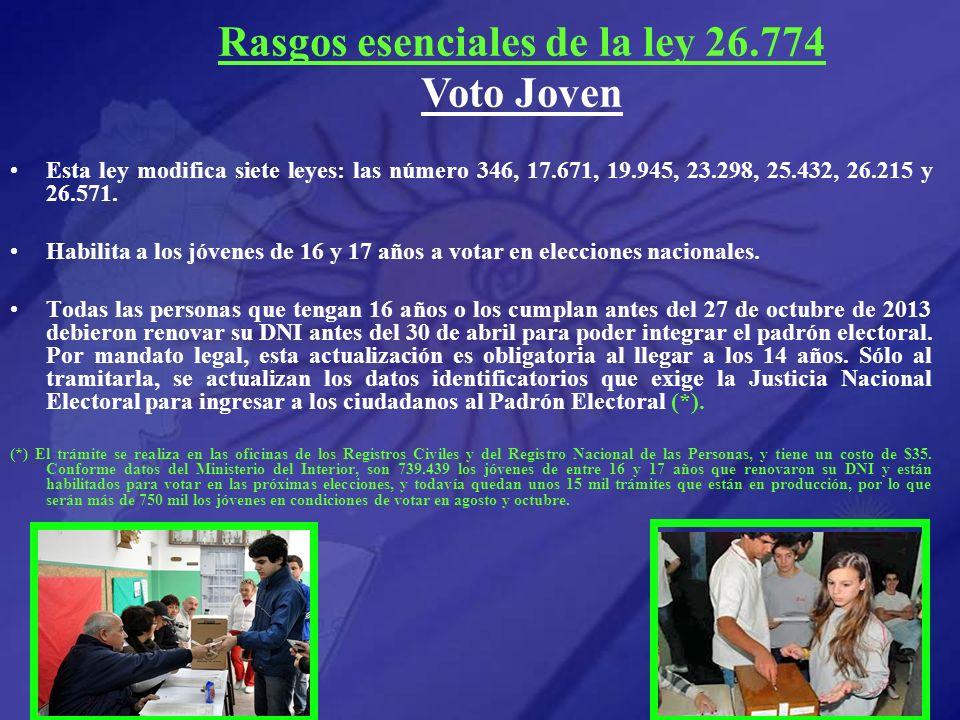 Rasgos esenciales de la ley 26.774