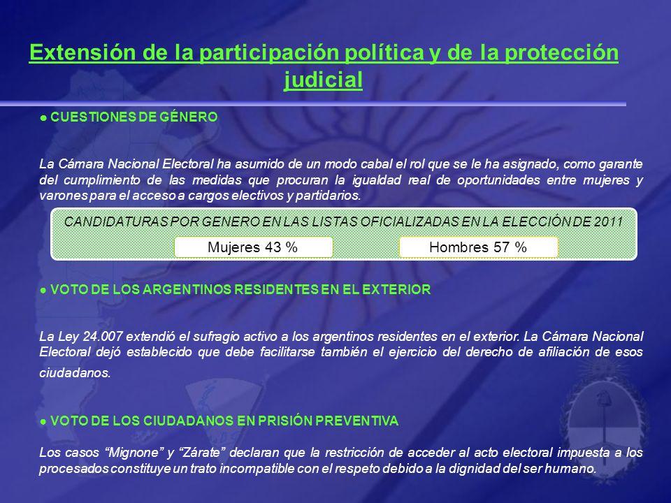 Extensión de la participación política y de la protección judicial