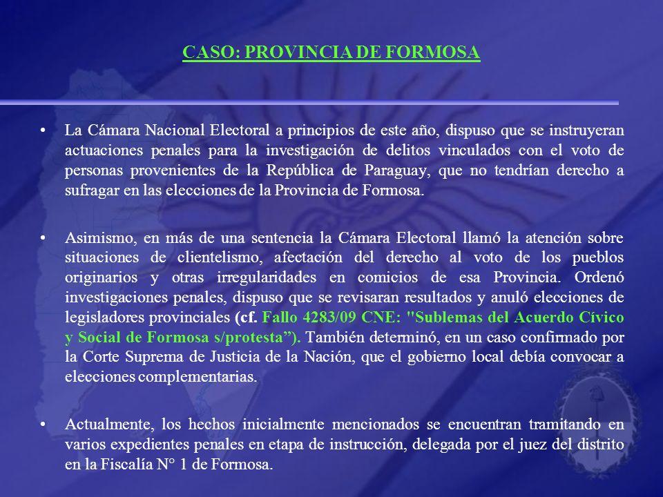 CASO: PROVINCIA DE FORMOSA
