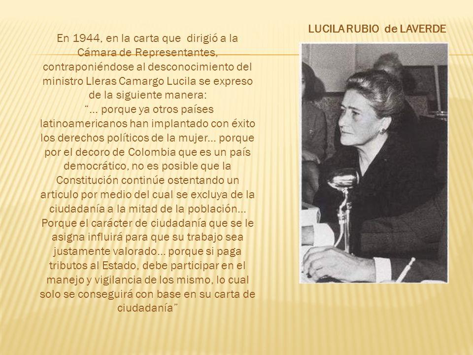 LUCILA RUBIO de LAVERDE