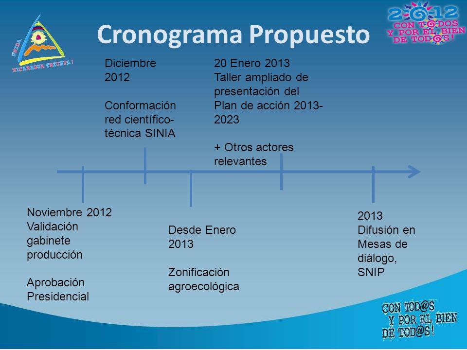 Cronograma Propuesto Diciembre 2012